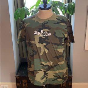Supreme stay positive Camo T-shirt